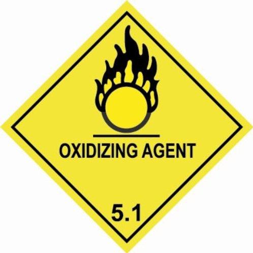 UN Hazard Warning Diamond Class 5.1  - Sticker Roll 100mm x 100mm