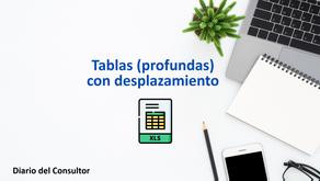 Aprende Excel - tablas (profundas) con desplazamiento
