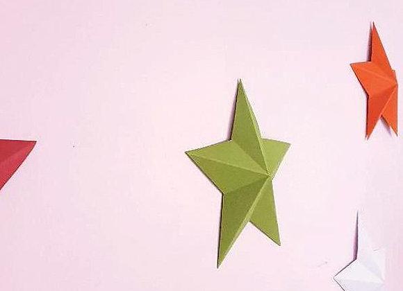 Grande étoile murale,Décoration en papier recyclé cartonné,Fait main