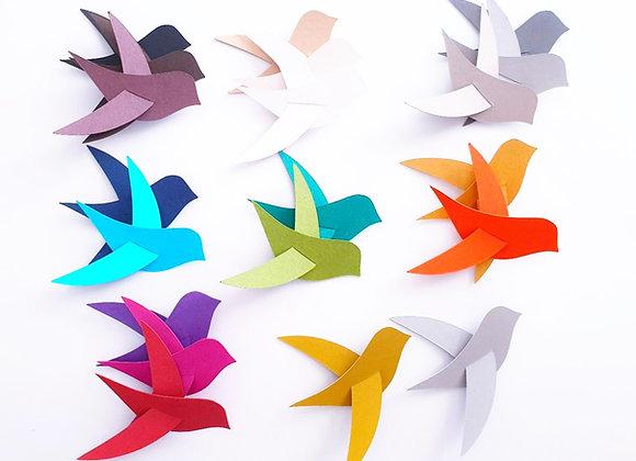 Un oiseau en papier cartonné recyclé Eco responsable 11,50x4cm