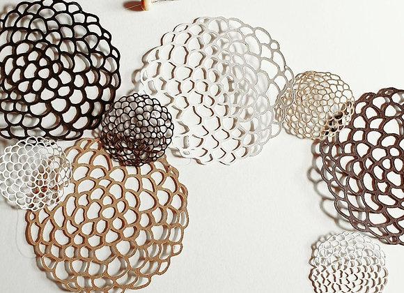 Guirlande en papier cartonné recyclé,Cercles en dentelles