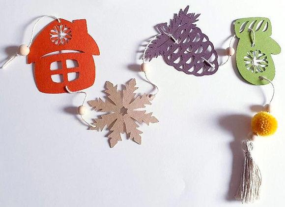 Guirlande de Décoration,Décor de Noël colorées,Papier Cartonné Recyclé