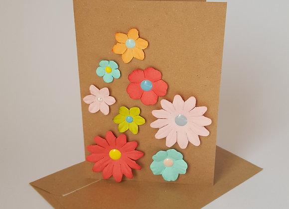 """La carte """"Les petites fleurs"""" avec son enveloppe"""