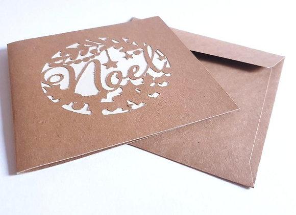 Carte de Noel,Carte et Enveloppe 13x13cm
