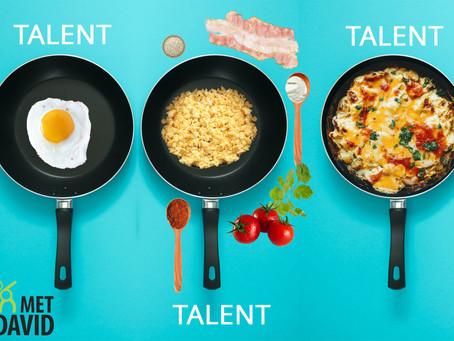 Talent is geen eenpansgerecht
