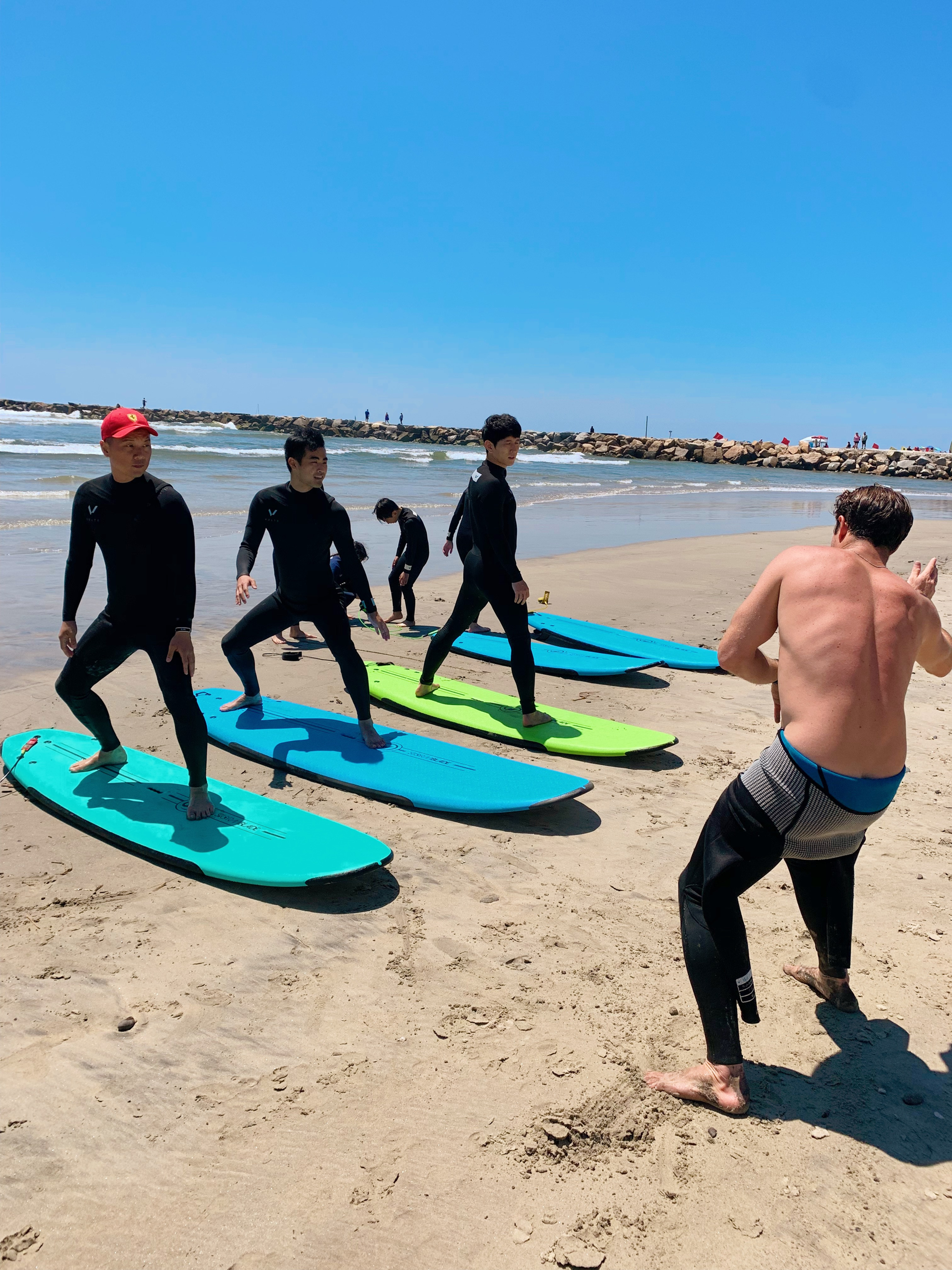 Group Lesson 3 Surfers