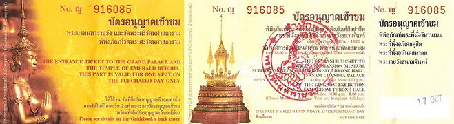 GRAND PALACE ENTRANCE FEE