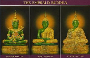Emerald Buddha Costume changing