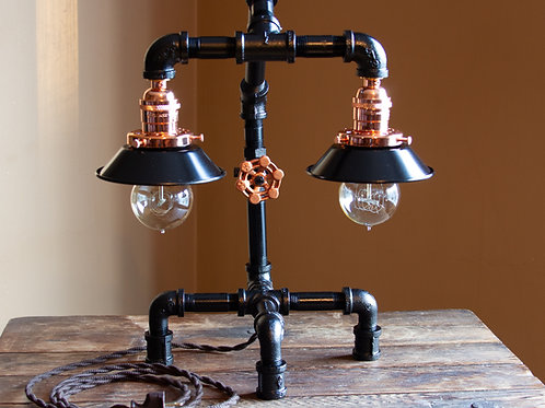 Black & Copper Lamp