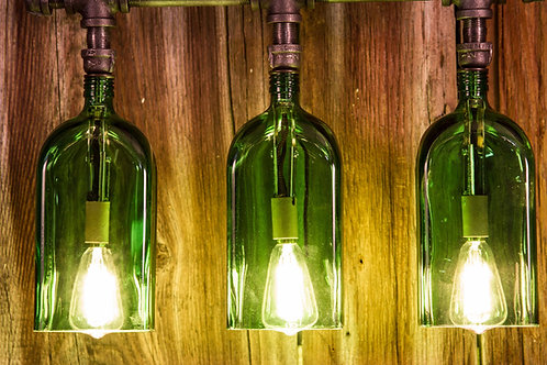 Whiskey Bottle Vanity Light