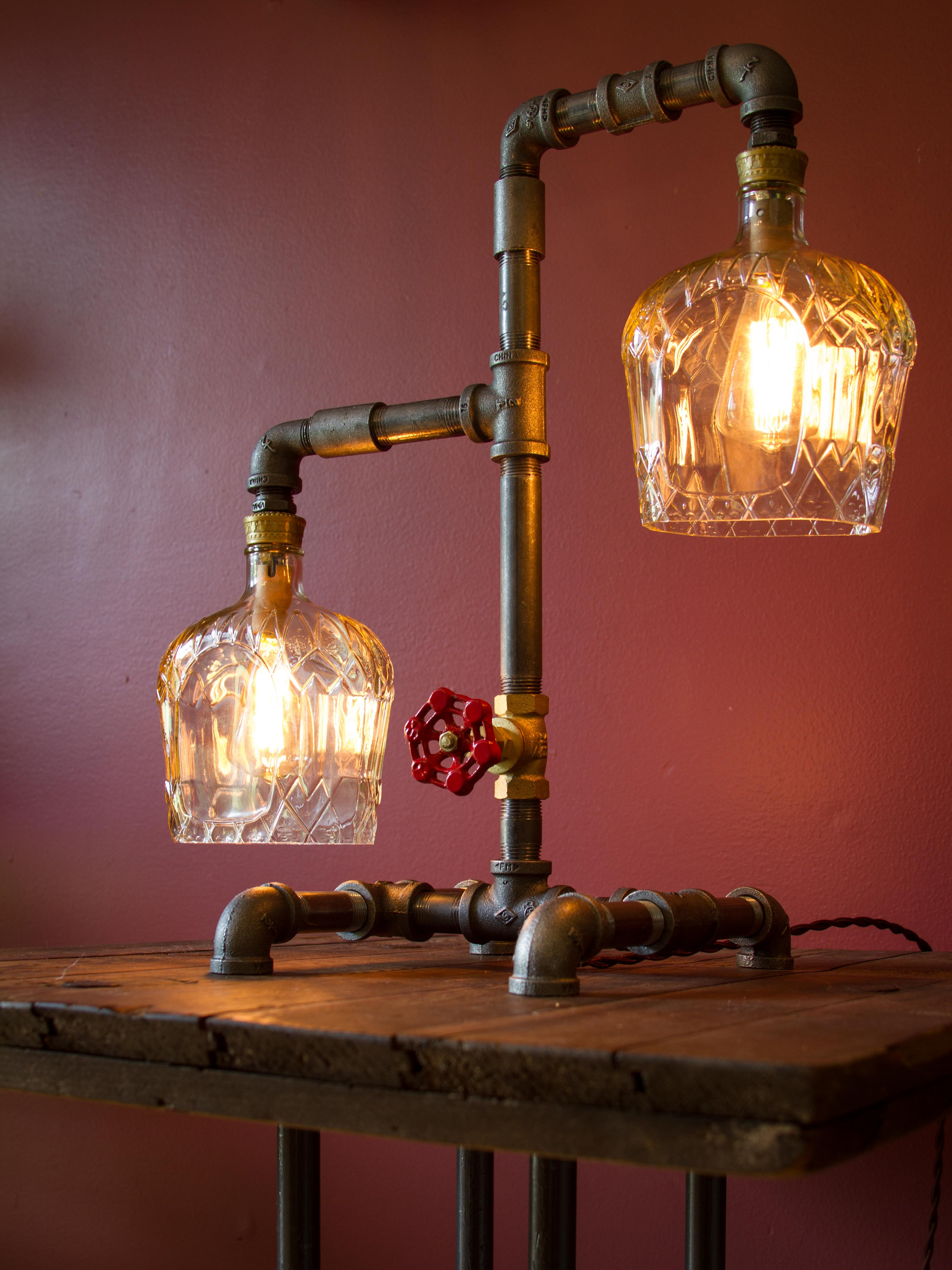 Rustic Industrial Lights | PA | StoneCold Designz | Crown Lamp