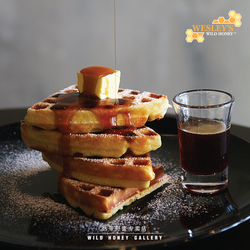 Butter Waffle with Wild Honey