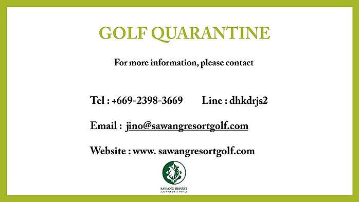 Brochure Golf quarantine sawang resort g