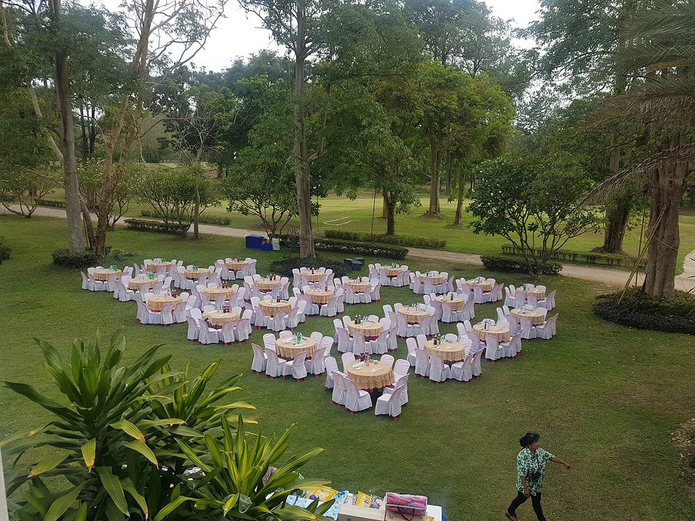 Set-up for the event @ Sawang Resort