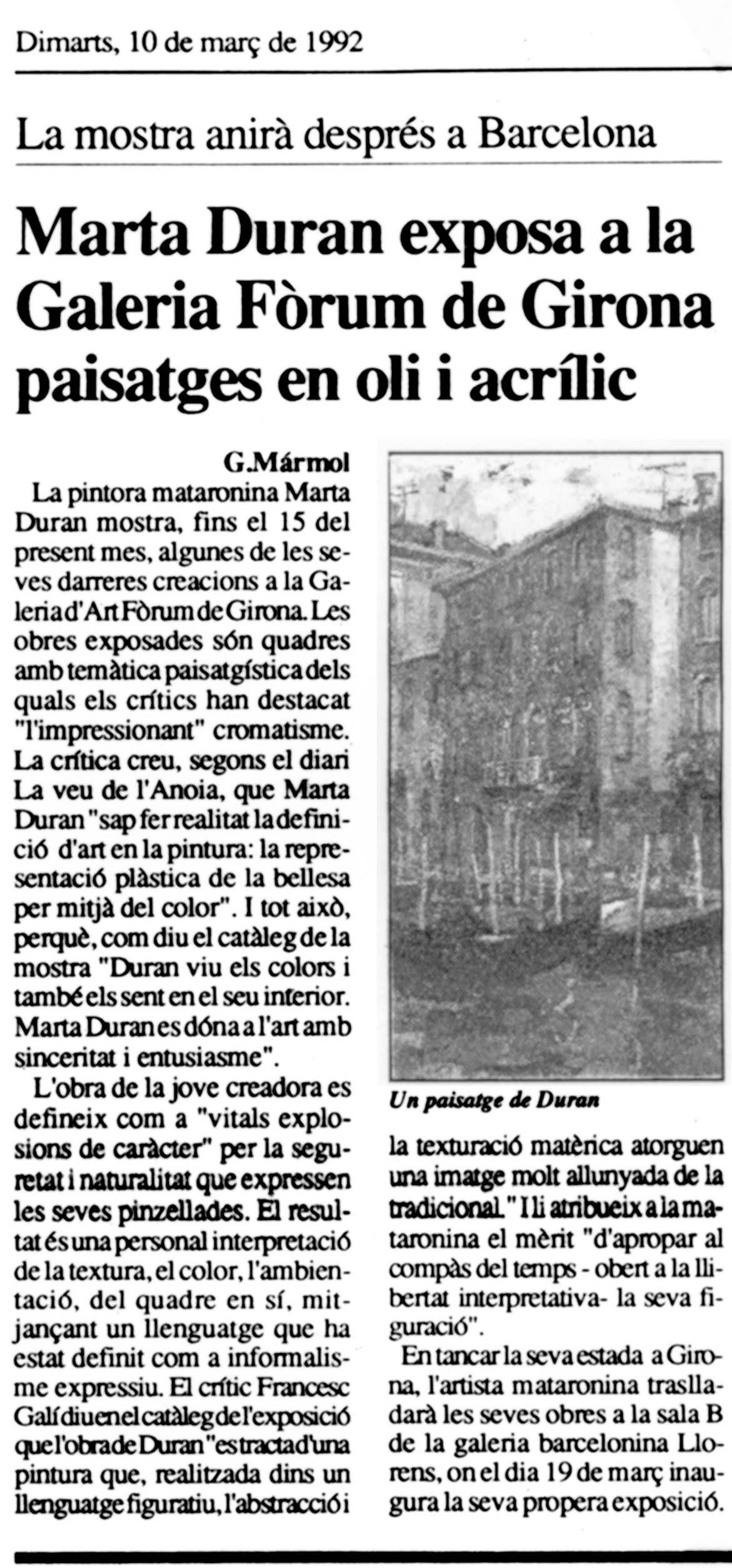 Galeria Forum. Girona
