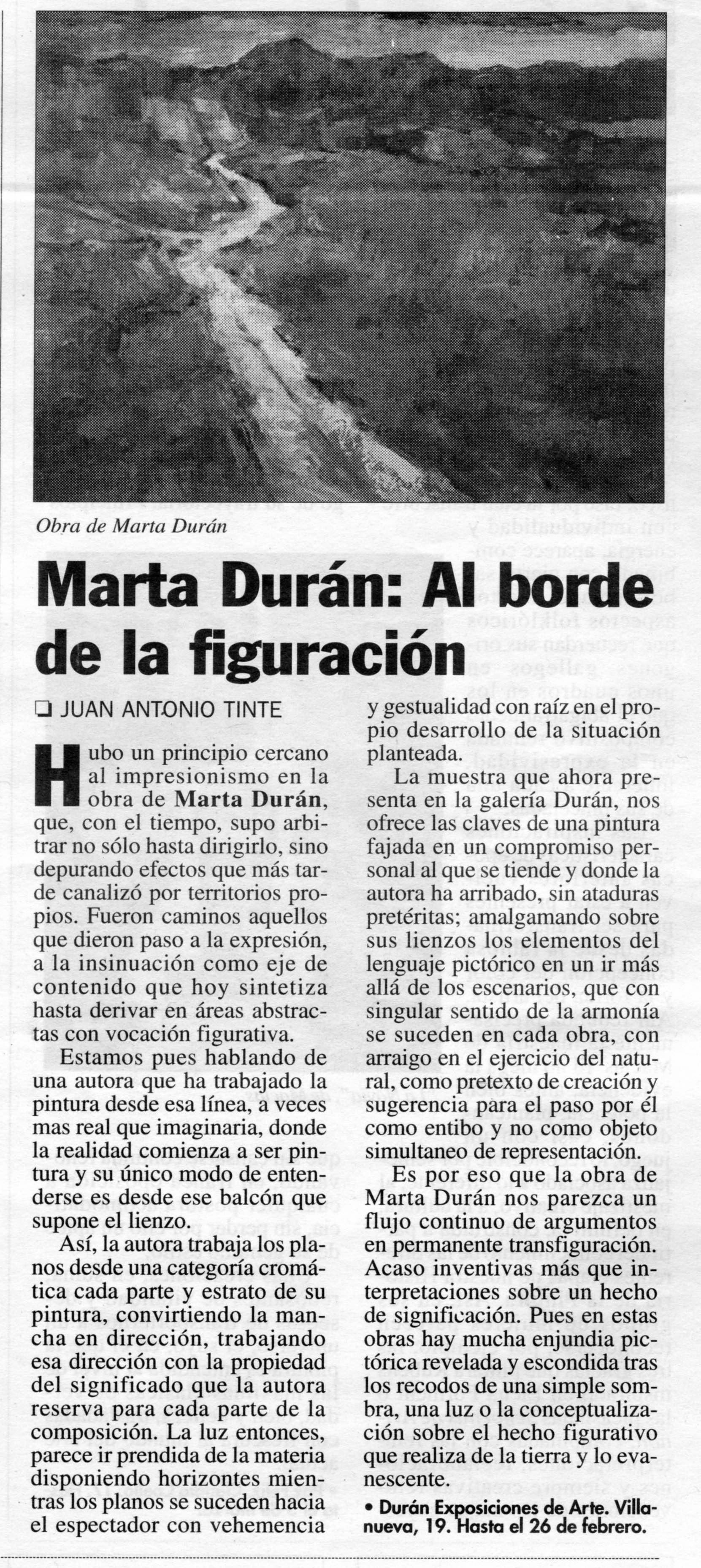 marta Duran: Al borde de la figuración