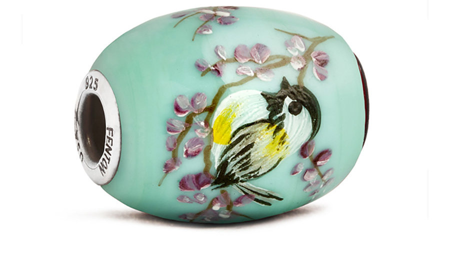 "10314 ""chickadee"" Glass CornerstoneBead"