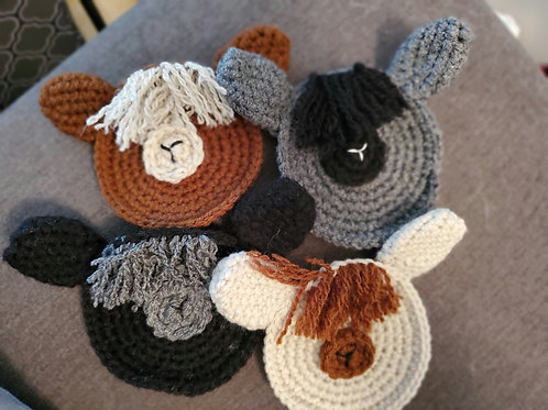 Alpaca coasters Set of 4