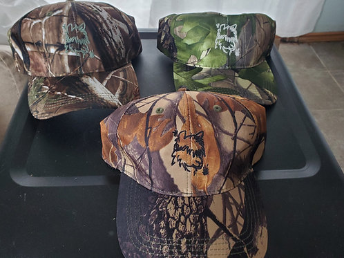 Embroidered Camo Adjustable  Caps