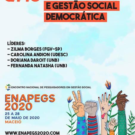 Ação Pública e Gestão Social Democrática é tema de GT do XI ENAPEGS