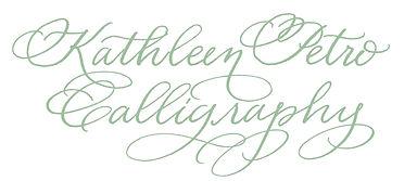 Kathleen Petro Calligraphy