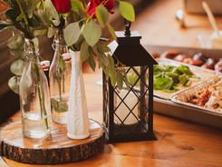 buffet table settings
