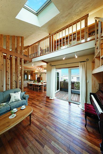 3階建てにすると階段スペースが必要になるから、とロフトプランを提案
