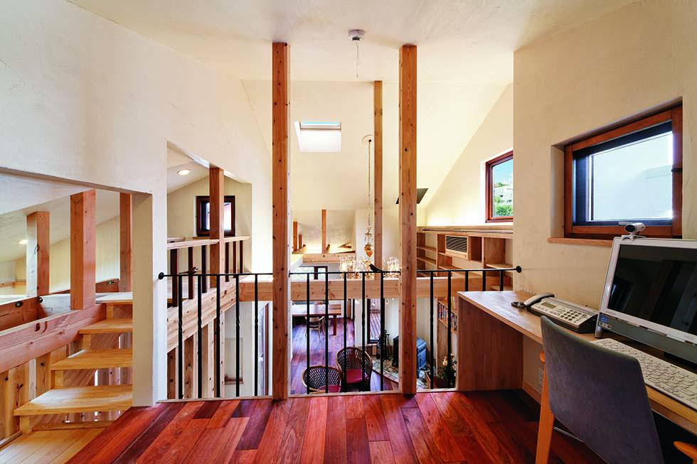 天井高を自在に操り、遊具を創るように空間を構成。ロフトも思いのままに