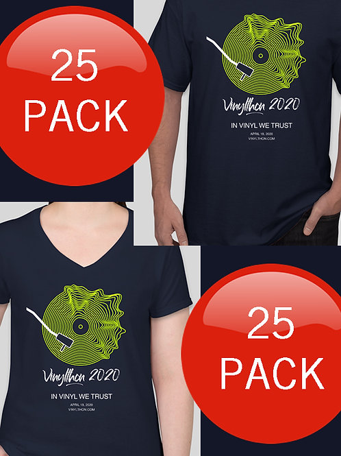Official Vinylthon 2020 T-shirts 25 PACK