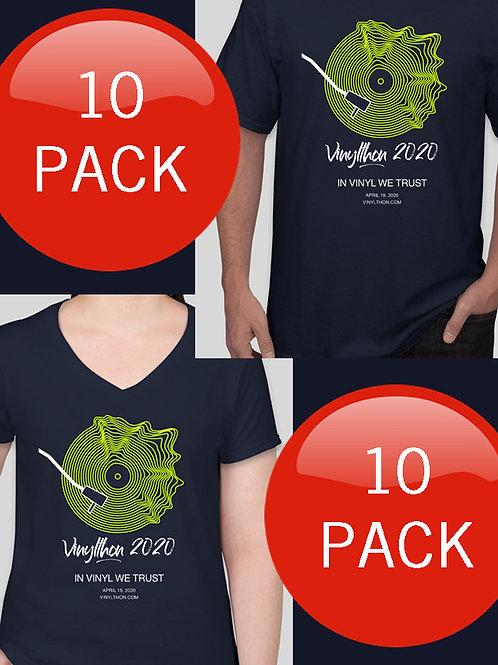 Official Vinylthon 2020 T-shirts 10 PACK
