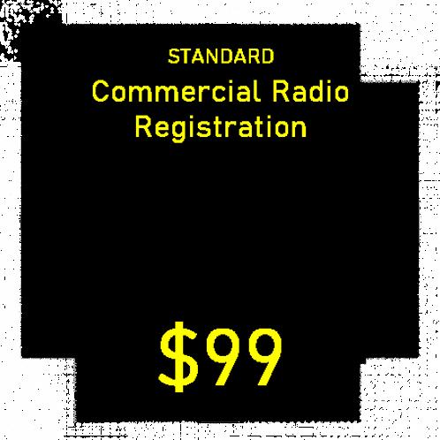 Standard Commercial Radio Registration
