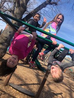 Gymnastics on the monkey bars