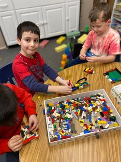 Legos with our Kindergarten friends