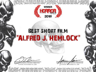 Alfred J Hemock Wins Best Short Film At The Horror Haus Film Festival in LA