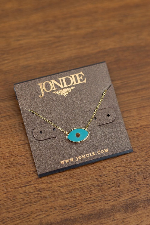 Enamel Evil Eye Dainty Necklace