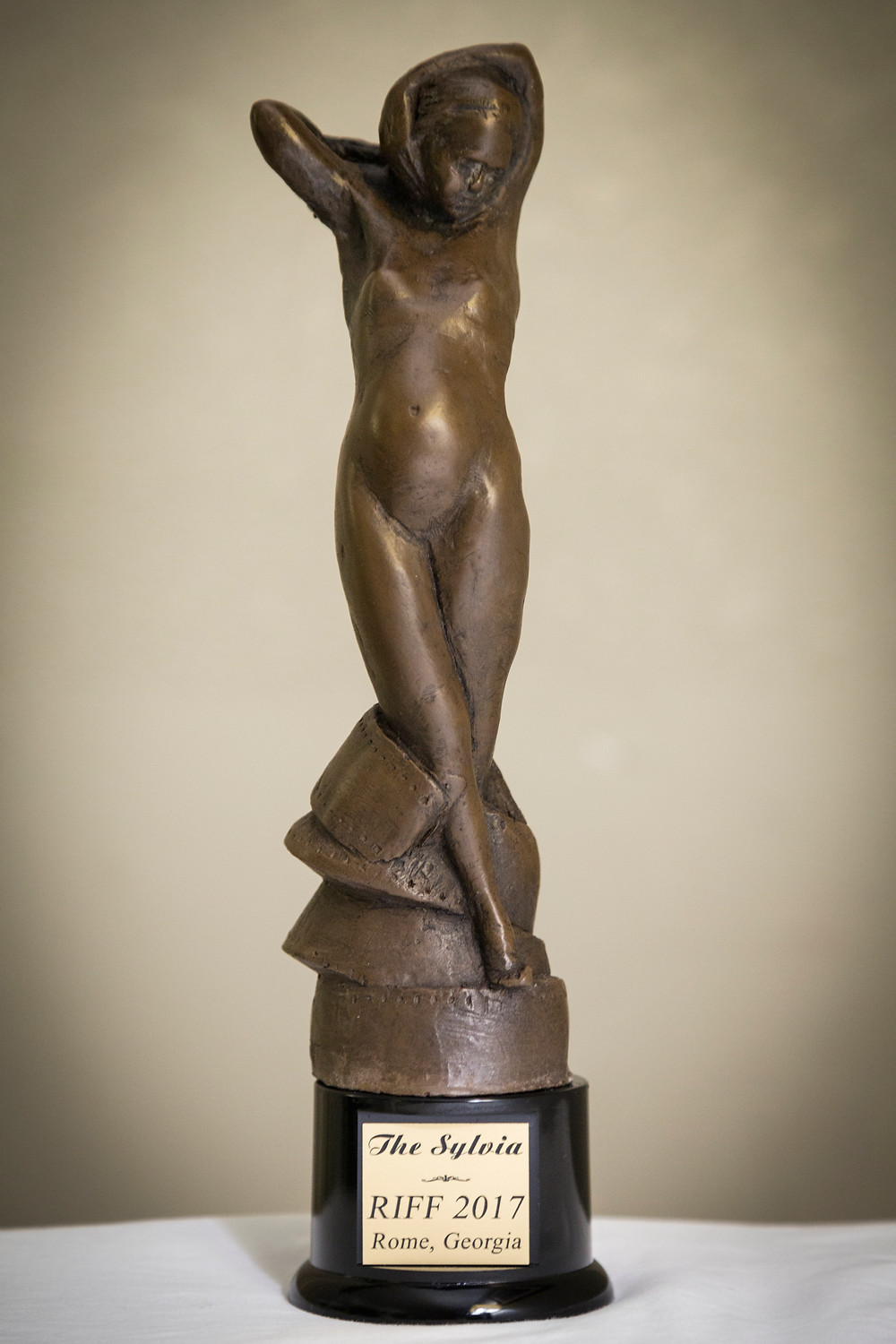 The Sylvia Statue Awarded to Alfred J Hemlock at the Rome International Film Festival in Georgia