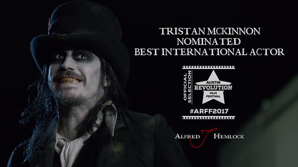 Tristan Mckinnon nominated Best International Actor Austin Revolution Film Festival