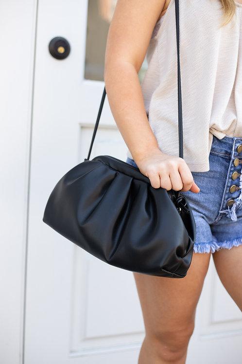 Sky Blue or Black Pouch Handbag