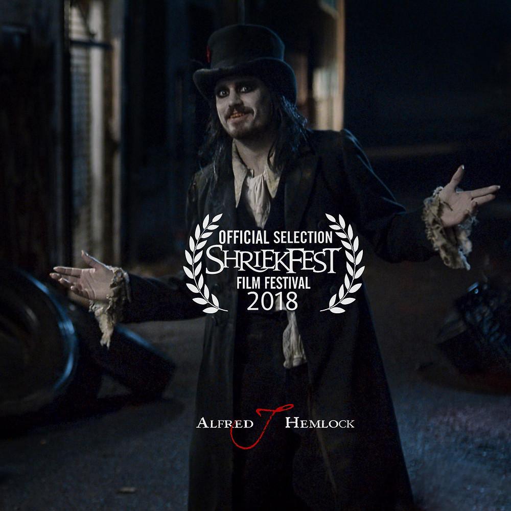 Alfred J Hemlock an Official Selection at Shriekfest 2018