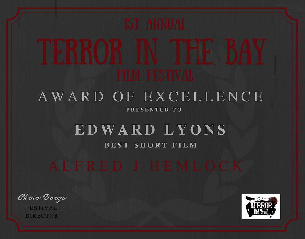 Winning Certificate for Best Short Film