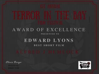Alfred J Hemlock Wins Best Short Film at the Terror In The Bay Film Festival