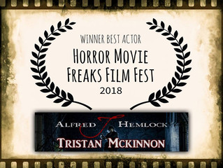 Tristan Mckinnon Wins Best Actor at Horror Movie Freaks Film Fest