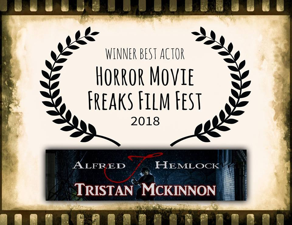 Tristan Mckinnon Winner Best Actor Horror Movie Freaks Film Fest 2018