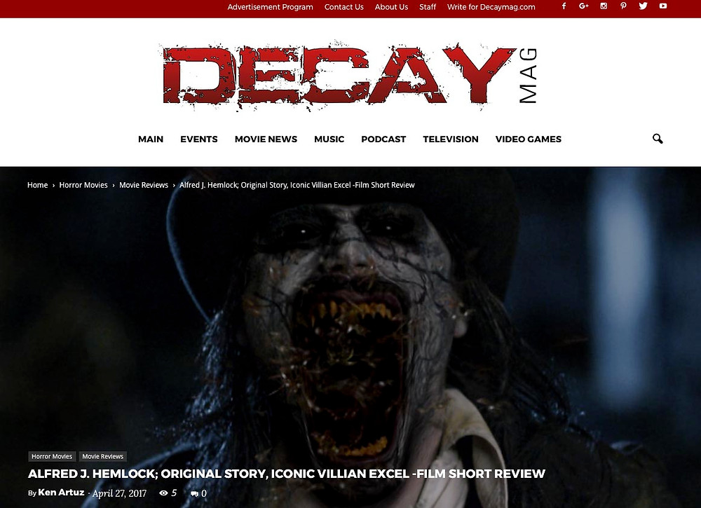 DecayMag review Picture of a demonic Alfred J Hemlock