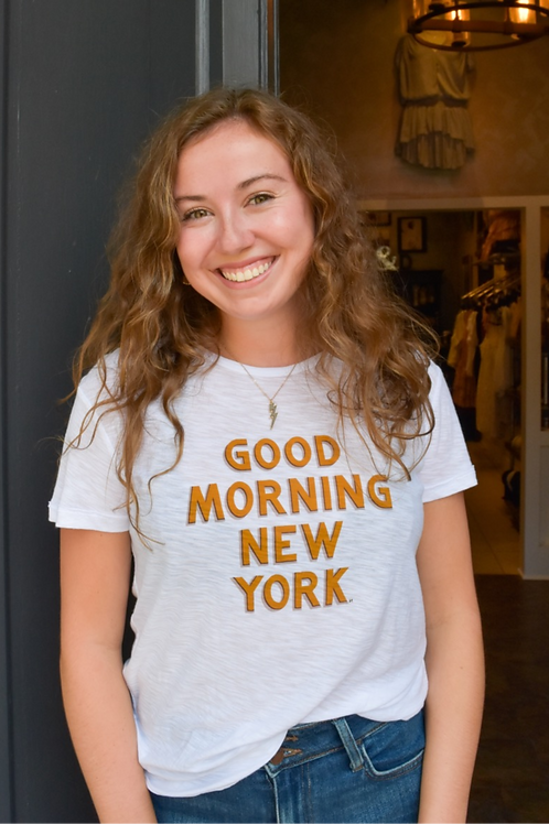 """Good Morning New York"" Graphic Tee"
