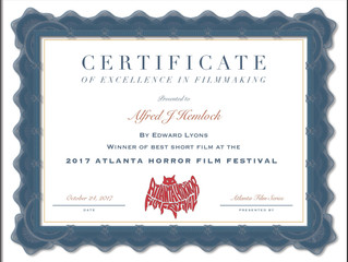Alfred J Hemlock Wins Best Short Film at the Atlanta Horror Film Festival