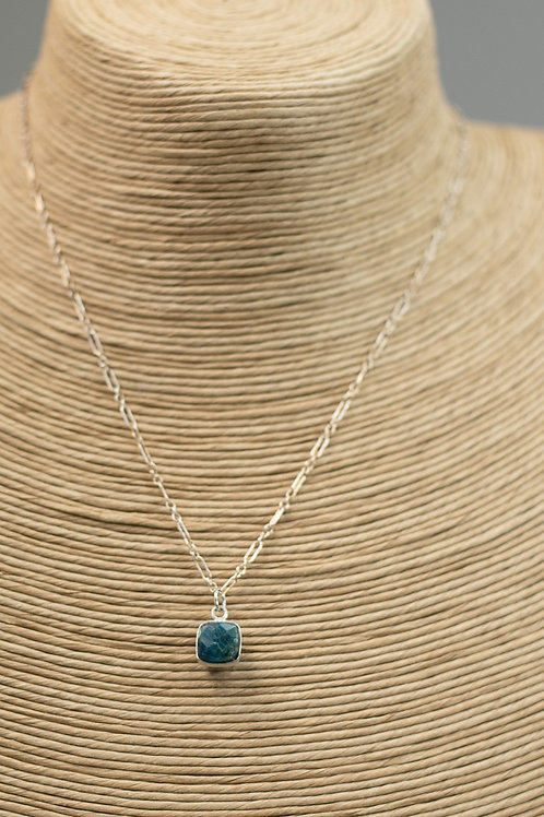 Handmade Semiprecious Stone Necklace on Sterling Silver Chain