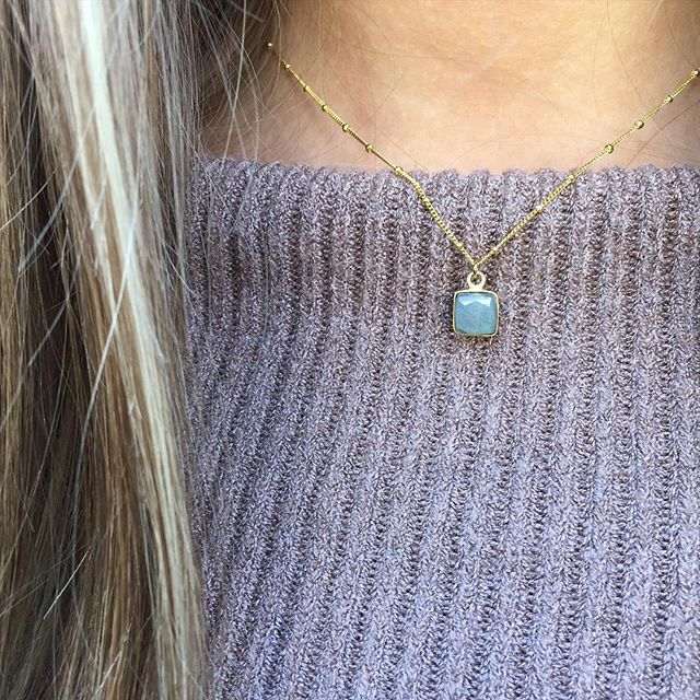 Dainty labradorite necklace handmade in