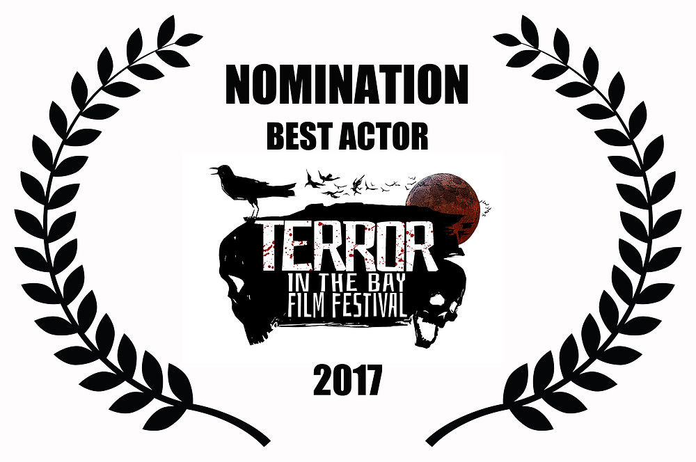 Tristan Mckinnon Nominated for Best Actor for Alfred J Hemlock at Terror in the Bay Film Festival 2017