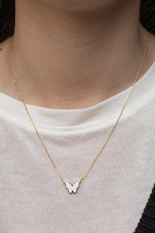 Butterfly Enamel Dainty Necklace